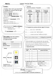 English Worksheet: save our planet