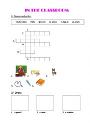 English Worksheet: In the classroom - Happy House 2