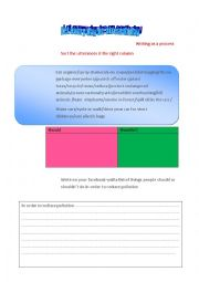 English Worksheet: let every day be an earth day