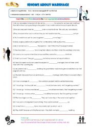 English Worksheet: Marriage Idioms