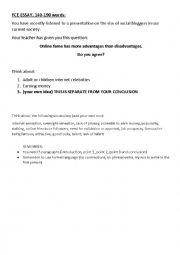 English Worksheet: FCE Essay on Fame