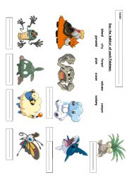 English Worksheet: Choose the habitat of each Pok�mon