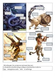English Worksheet: Parts of body (creatures)