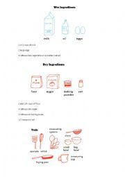 English Worksheet: how to make a pancake