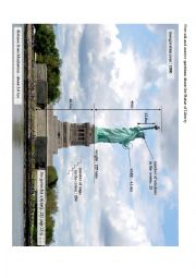 English Worksheet: Getting to know the Statue of Liberty