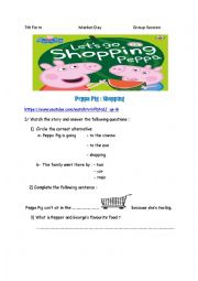 English Worksheet: Market Day 7th form tunisian prog group session