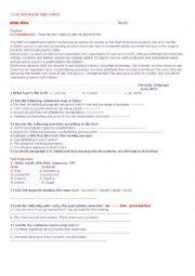 English Worksheet: ethics in business homework