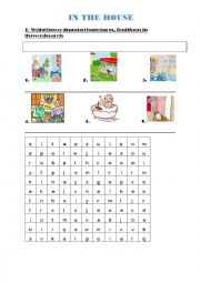 English Worksheet: In the house - Happy House 2