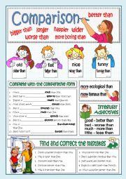 English Worksheet: BASIC COMPARISON