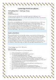 English Worksheet: CPE Writing Task 1