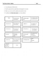 English Worksheet: Human Skeleton Domino