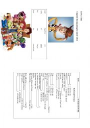 English Worksheet: Song Time. Toy Story