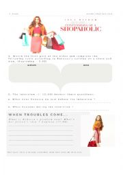English Worksheet: Confessions of a shopaholic - The movie