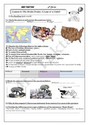English Worksheet: brain drain lesson for bac students