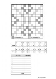 English Worksheet: SCRABBLE