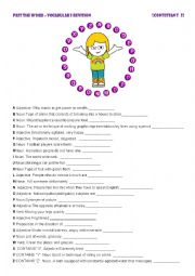 English Worksheet: PASS THE WORD 2