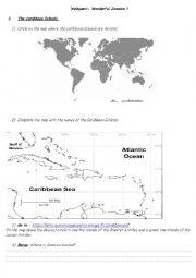 English Worksheet: Webquest - Jamaica