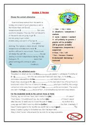 English Worksheet: pollution review
