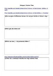 English Worksheet: Victorian Times (webquest)