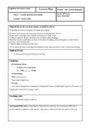 English Worksheet: Brain Drain lesson plan