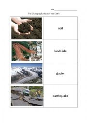 english worksheets the changing surface of earth. Black Bedroom Furniture Sets. Home Design Ideas