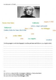 Marilyn Monroe´s Biography (using prompts) + KEY