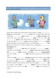 English Worksheet: Present, Past & Present Perfect - Simple & Progressive (6)