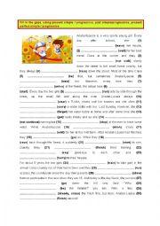 English Worksheet: Present, Past & Present Perfect - Simple & Progressive (7)