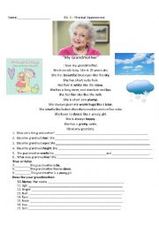 English Worksheet: My Grandmother Reading - Physical Appearance