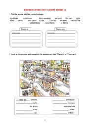 English Worksheet: Revision after Unit 5 of Happy Street 2