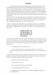 English Worksheet: short stories