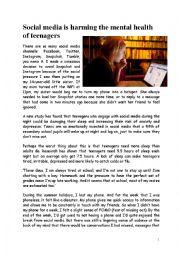 English Worksheet: Social media