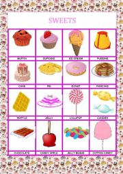 English Worksheet: sweets domino