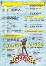English Worksheet: Summer lovin� - Grease OST