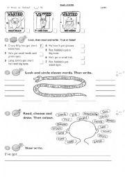 English Worksheet: My face test