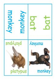 English Worksheet: Kids dominoes - mammals