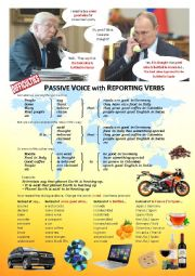 English worksheet: Passive Voice with reporting verbs