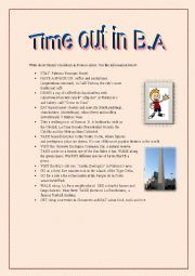 English Worksheet: Time out in B.A, Argentina