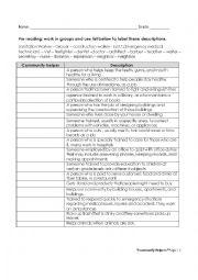 English Worksheet: COMMUNITY HELPERS