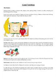 GOOD NUTRITION - FOOD HABITS