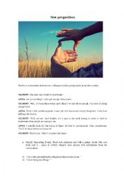 English Worksheet: NEW PERSPECTIVES