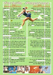 English worksheet: Garbiñe Muguruza