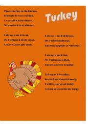 English Worksheet: Think Tales 41 ( Turkey: Thanksgiving)