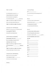 English Worksheet: Numb - Linkin Park
