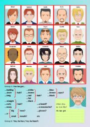 English worksheet: Who is who?