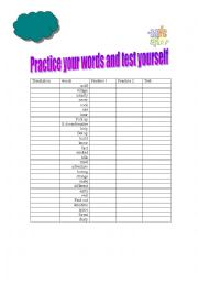 Vocabulary a perfect way to let your students practice vocabulary