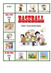 Baseball/Peanuts Past Tense Game