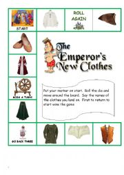 English worksheet: Emperor´s New Clothes Board Game