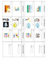 English Worksheet: Weather-Food-Clothes