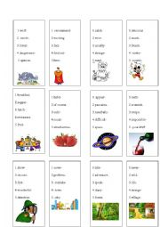 Vocabulay a game for pairs